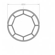 Профиль соединительный угловой Rehau/Brusbox/Monblanc/Richmont 70 мм